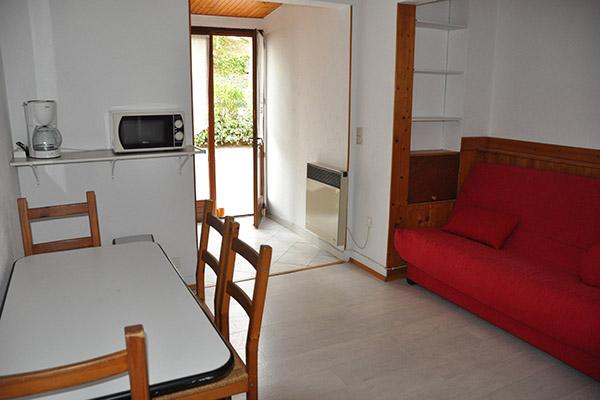 Camping le Val Fleuri-Salon Canape-2 pièces