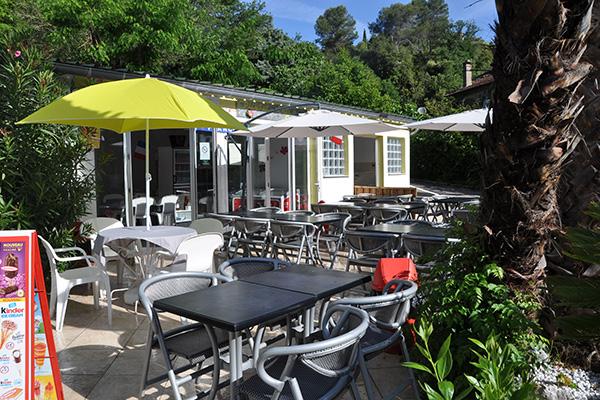 Camping Val Fleuri - Bar restaurant exterieur - Cagnes sur Mer